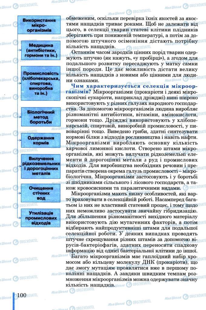 Підручники Біологія 11 клас сторінка 100