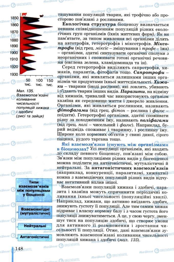 Підручники Біологія 11 клас сторінка 148