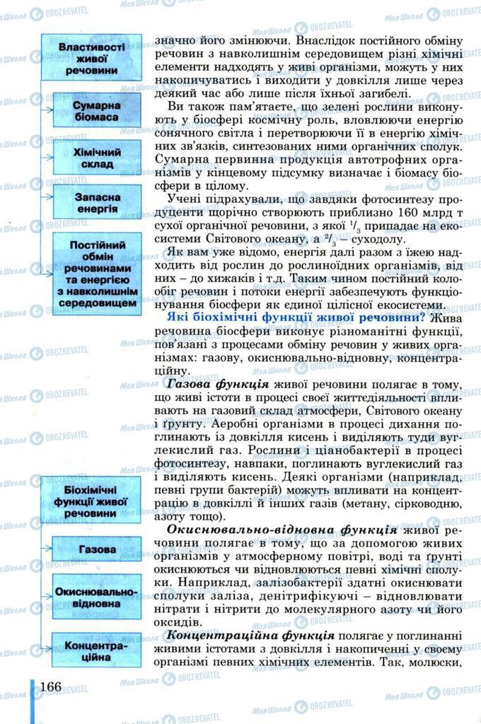 Підручники Біологія 11 клас сторінка 166