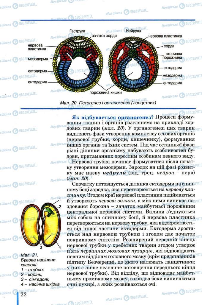 Підручники Біологія 11 клас сторінка  22