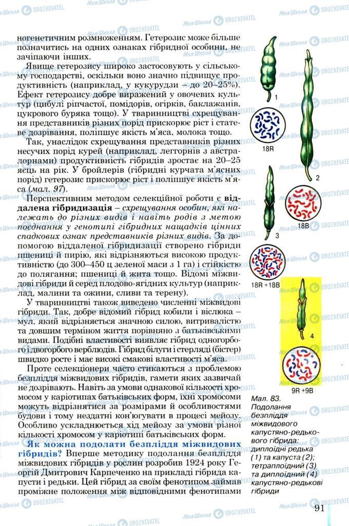 Підручники Біологія 11 клас сторінка 91