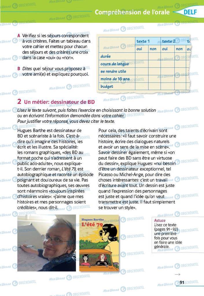 Підручники Французька мова 9 клас сторінка 91