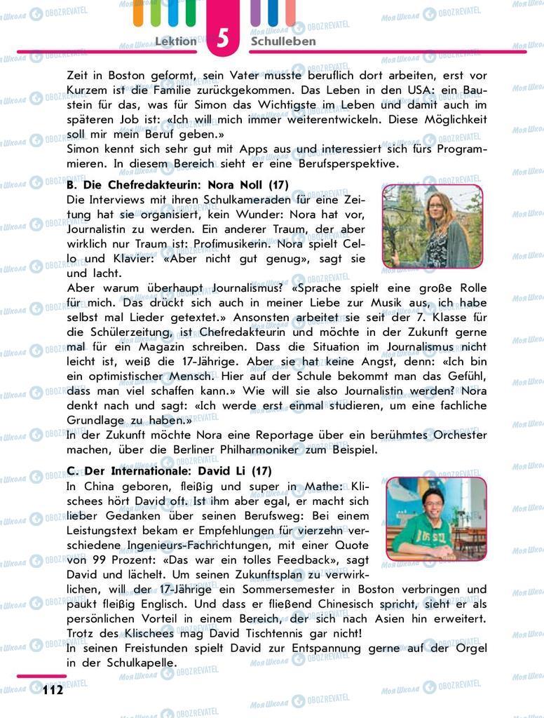 Учебники Немецкий язык 9 класс страница 112