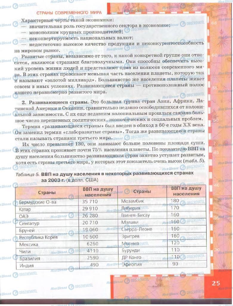 Учебники География 10 класс страница  25