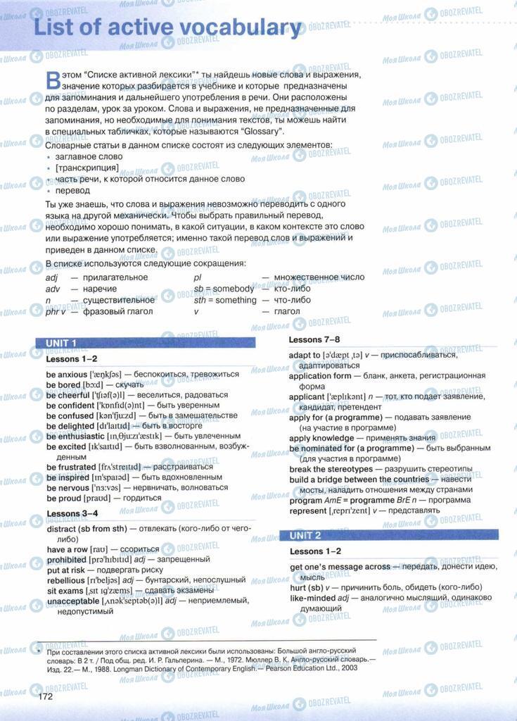 Підручники Англійська мова 10 клас сторінка  172
