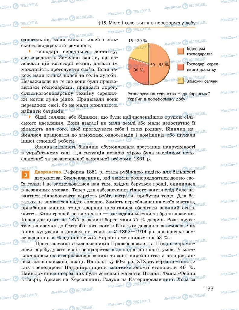 Підручники Історія України 9 клас сторінка 133