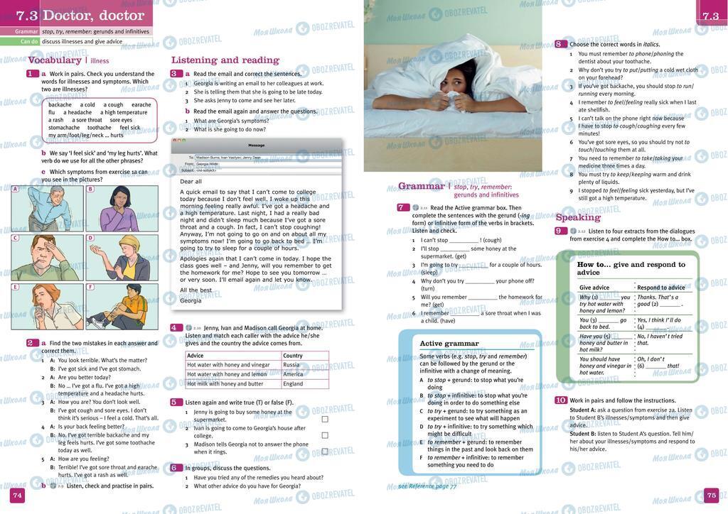 Учебники Английский язык 10 класс страница  74-75