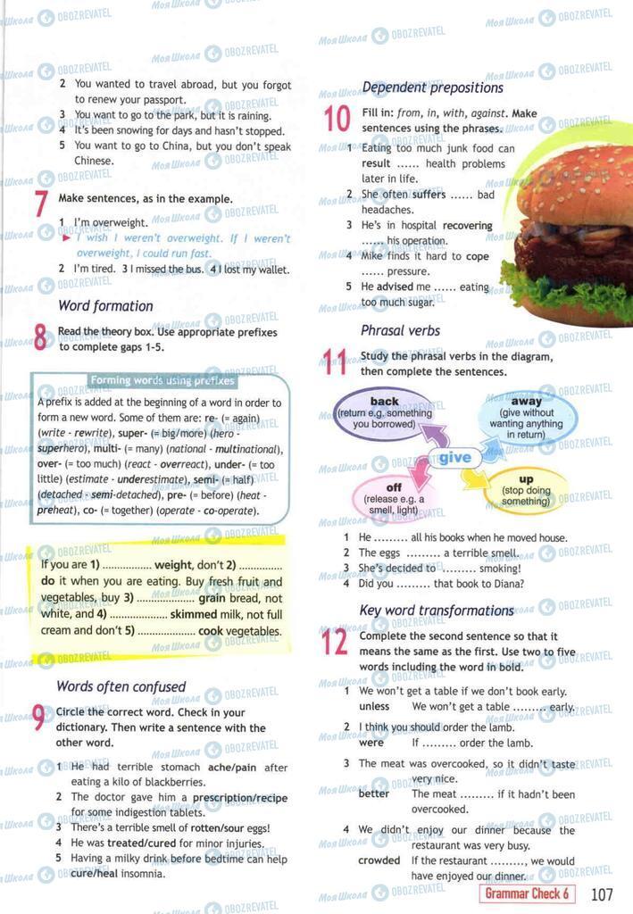 Підручники Англійська мова 10 клас сторінка  107