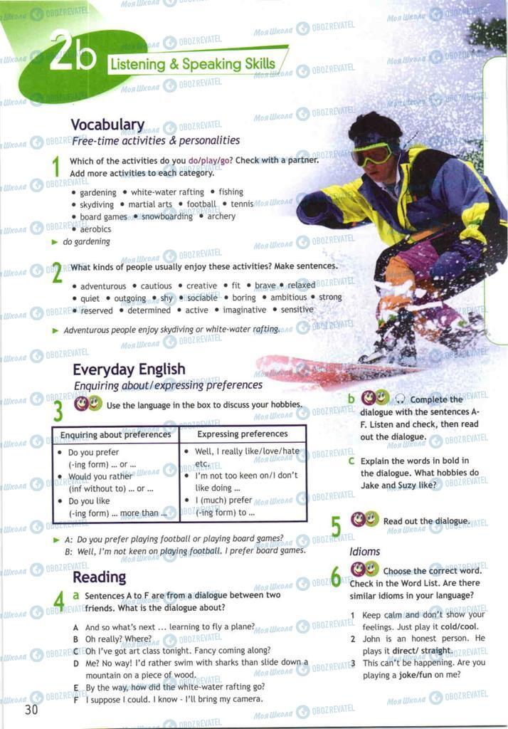 Підручники Англійська мова 10 клас сторінка  30