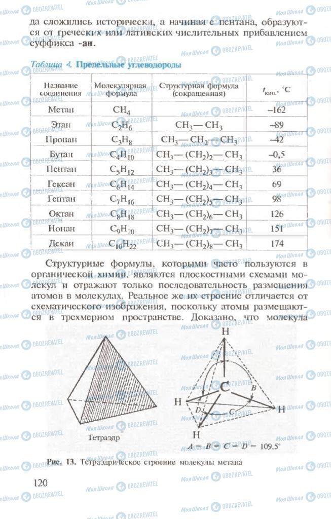 Учебники Химия 10 класс страница  120