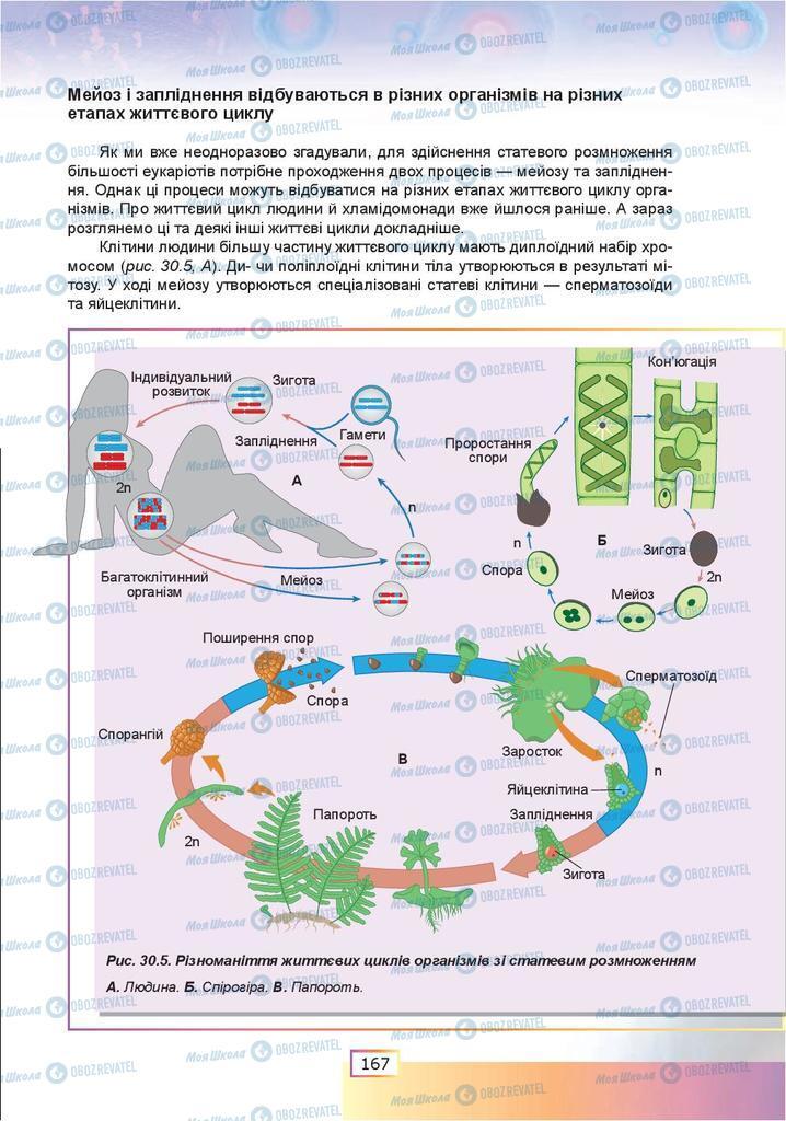 Підручники Біологія 9 клас сторінка 167