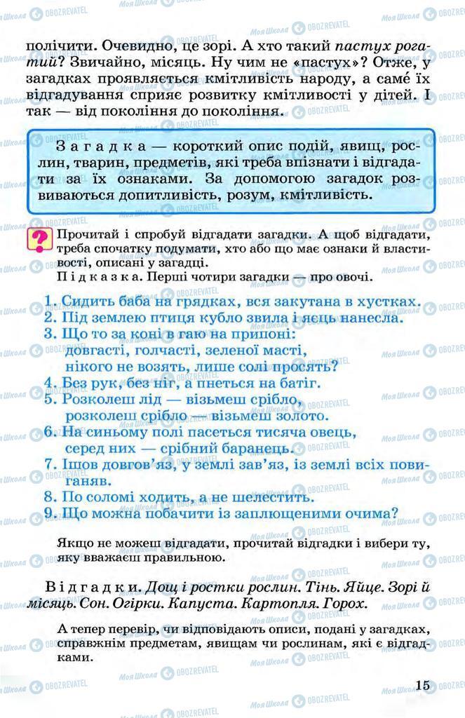 Підручники Українська мова 3 клас сторінка 15