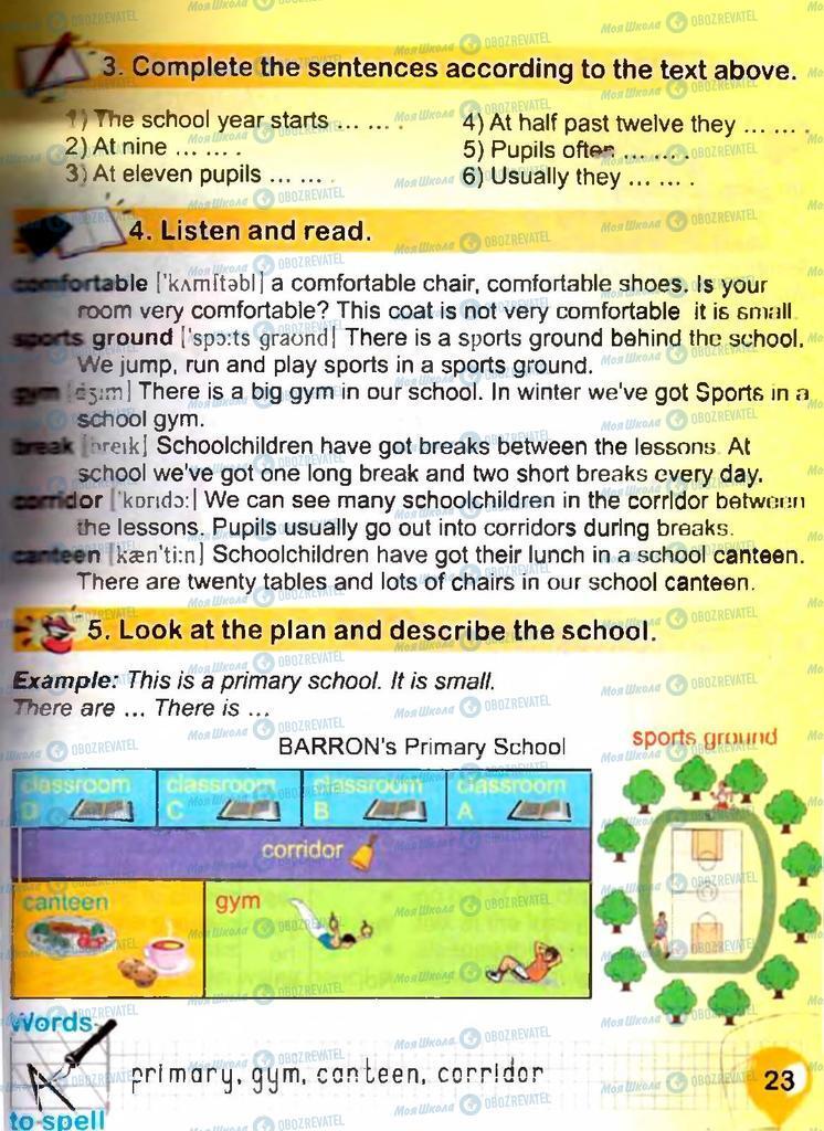 Підручники Англійська мова 3 клас сторінка 23