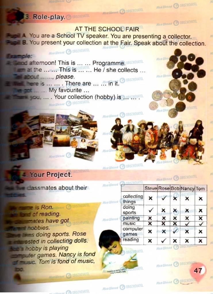 Підручники Англійська мова 3 клас сторінка 47