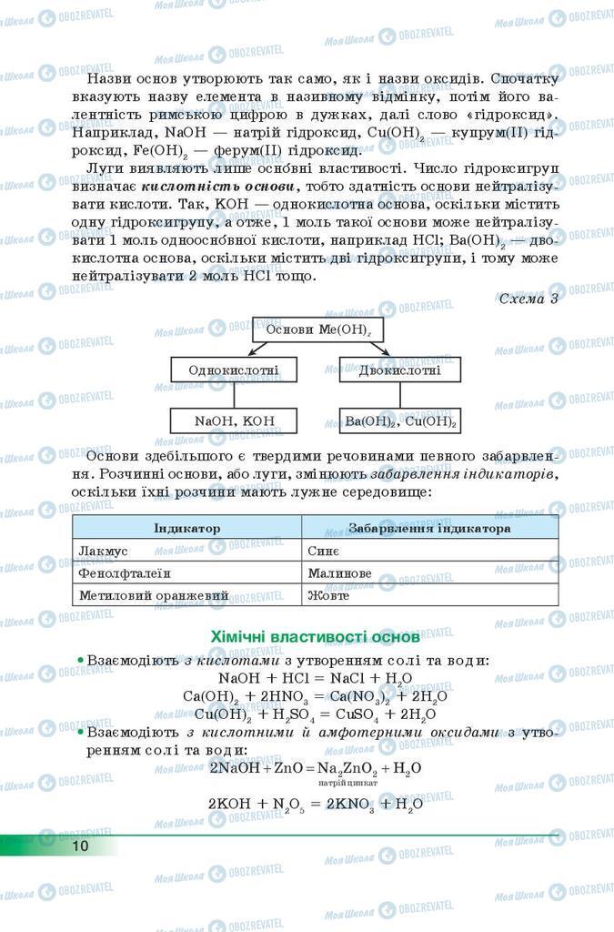 Учебники Химия 9 класс страница 10