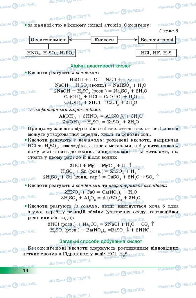 Учебники Химия 9 класс страница 14