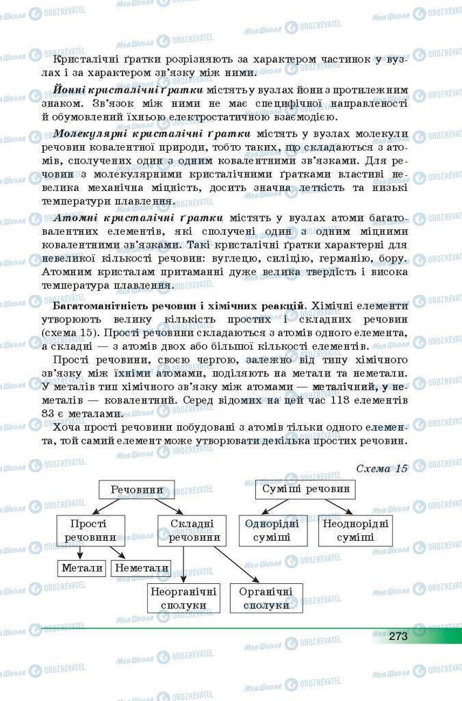 Підручники Хімія 9 клас сторінка  273