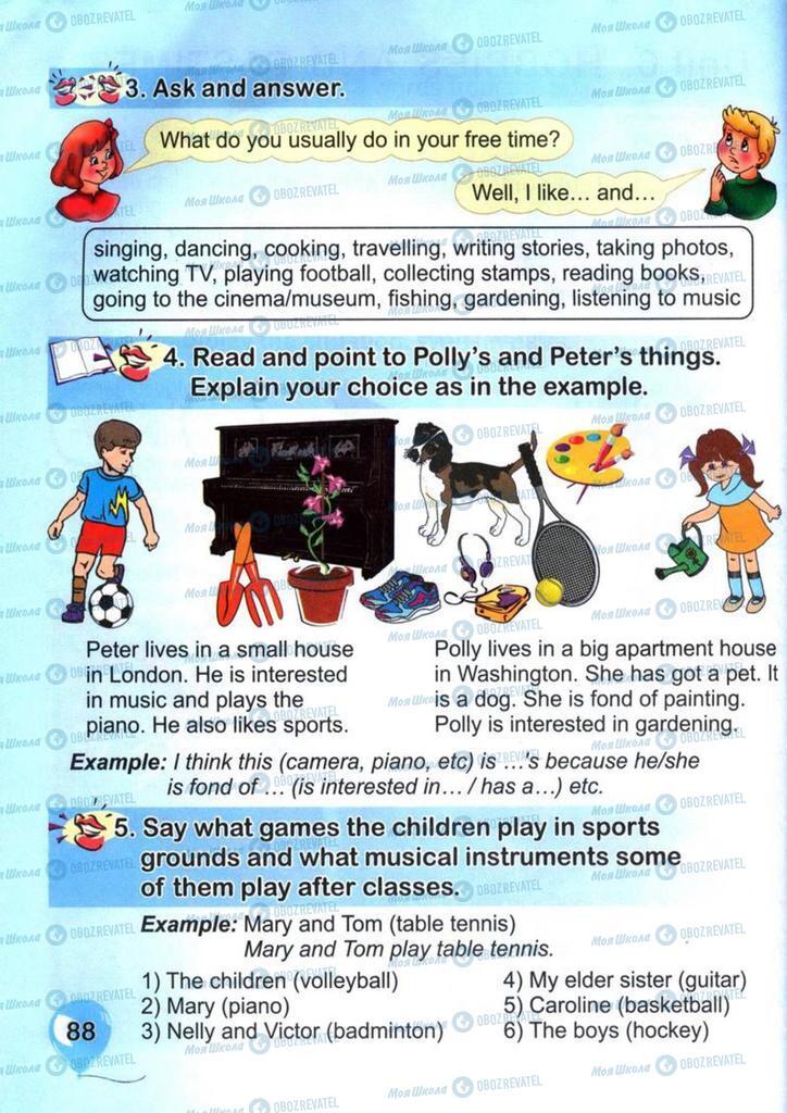 Учебники Английский язык 4 класс страница  88