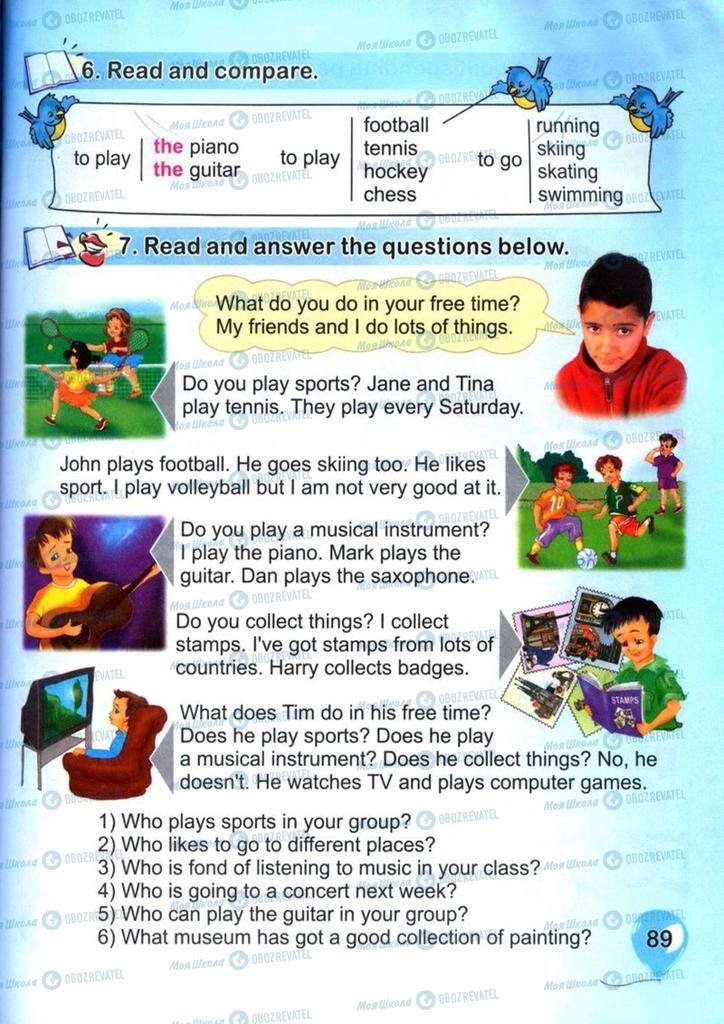 Підручники Англійська мова 4 клас сторінка 89