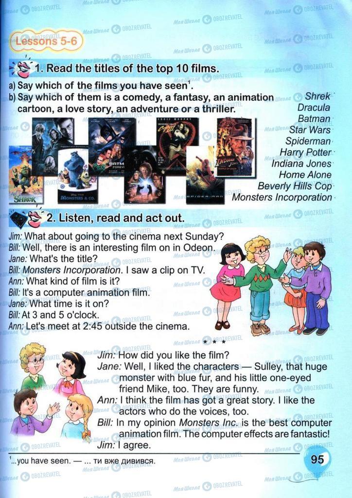 Підручники Англійська мова 4 клас сторінка 95
