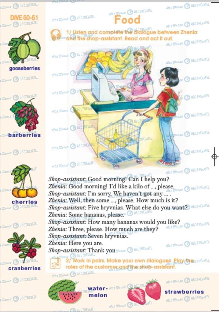 Підручники Англійська мова 4 клас сторінка 170