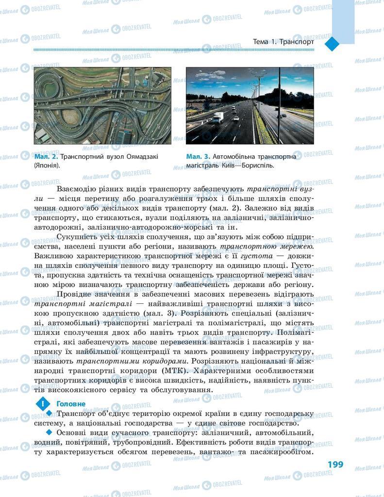 Підручники Географія 9 клас сторінка 199