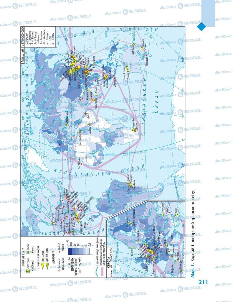 Підручники Географія 9 клас сторінка 211