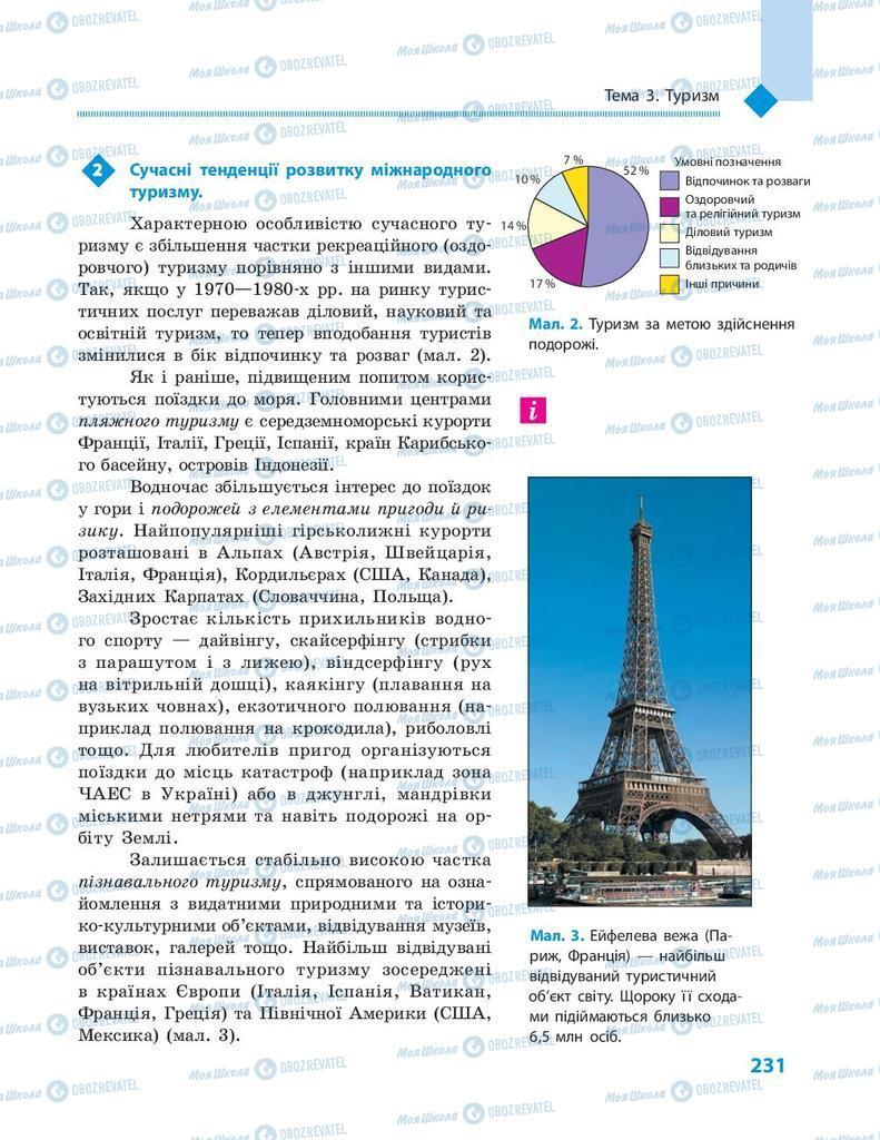 Підручники Географія 9 клас сторінка 231