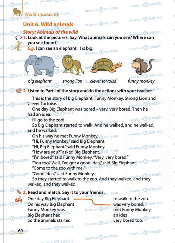 Підручники Англійська мова 4 клас сторінка 60