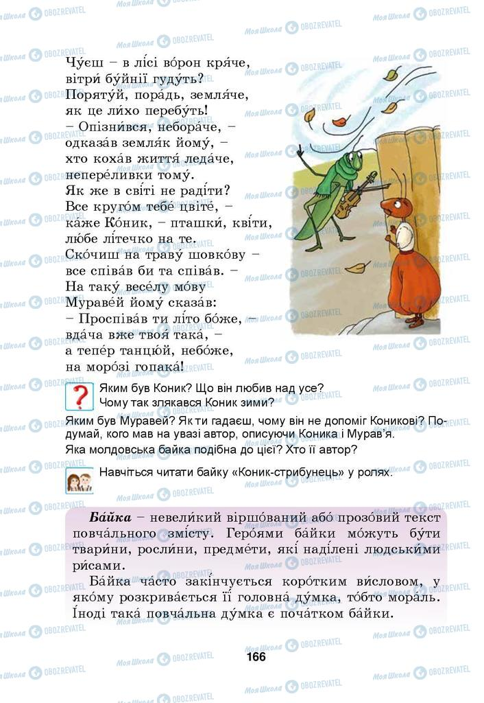 Учебники Укр мова 4 класс страница 166
