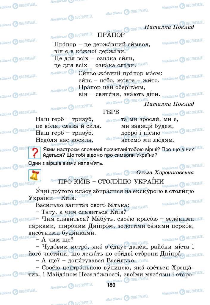 Підручники Українська мова 4 клас сторінка 180