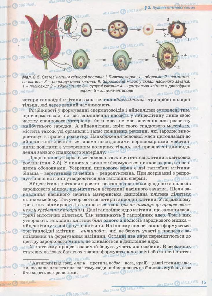 Підручники Біологія 11 клас сторінка 15