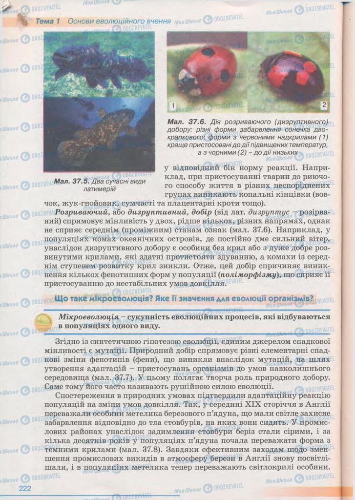 Учебники Биология 11 класс страница 222