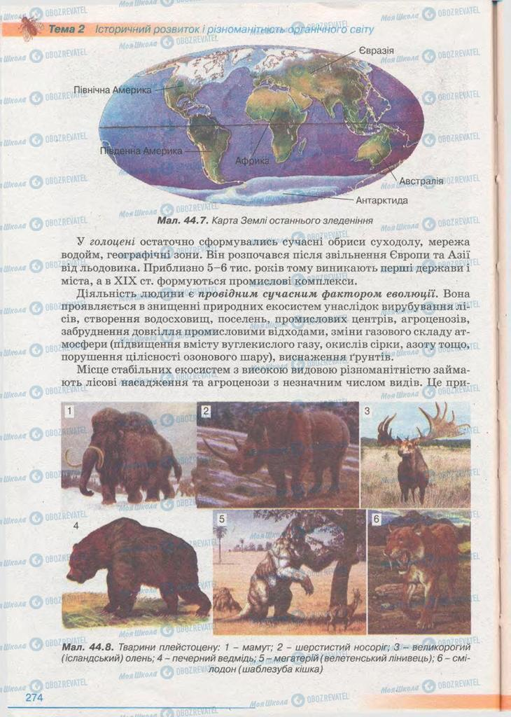 Підручники Біологія 11 клас сторінка 274