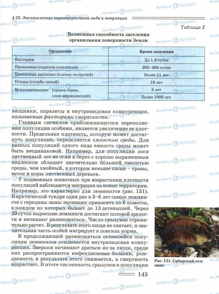 Підручники Біологія 11 клас сторінка 145