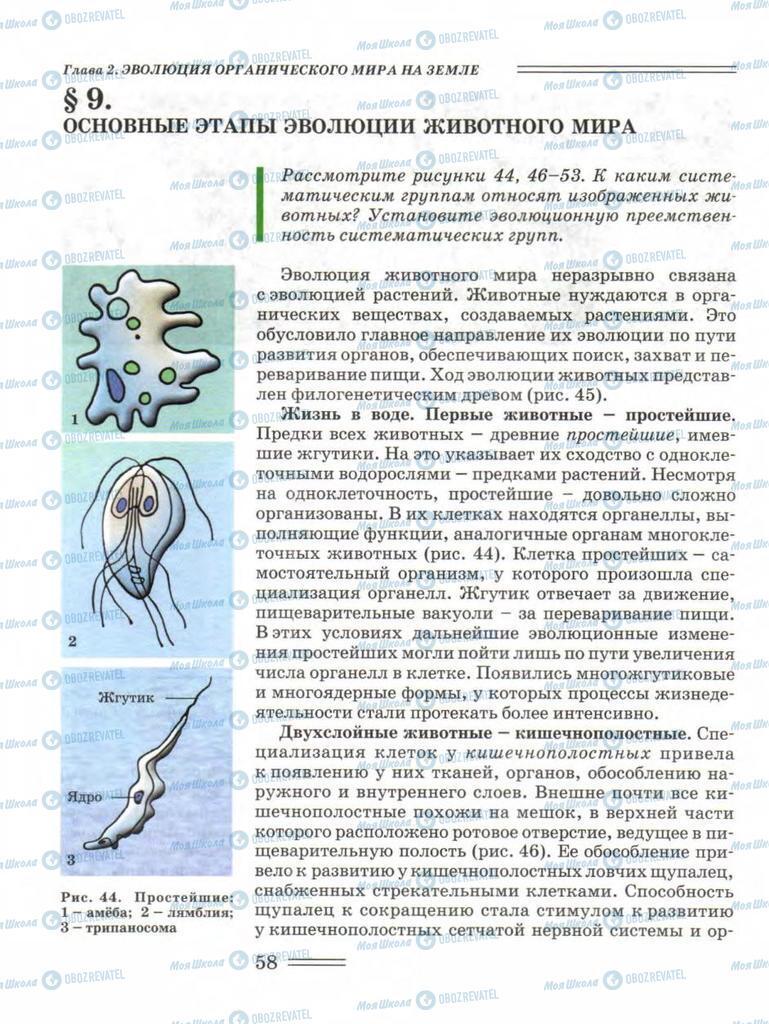 Підручники Біологія 11 клас сторінка 58