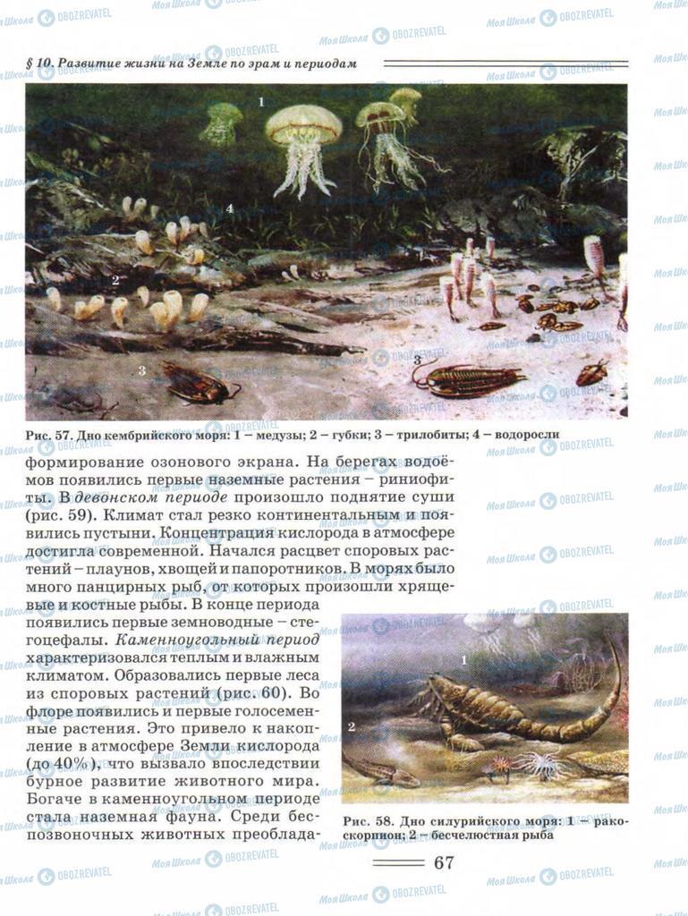 Підручники Біологія 11 клас сторінка 67