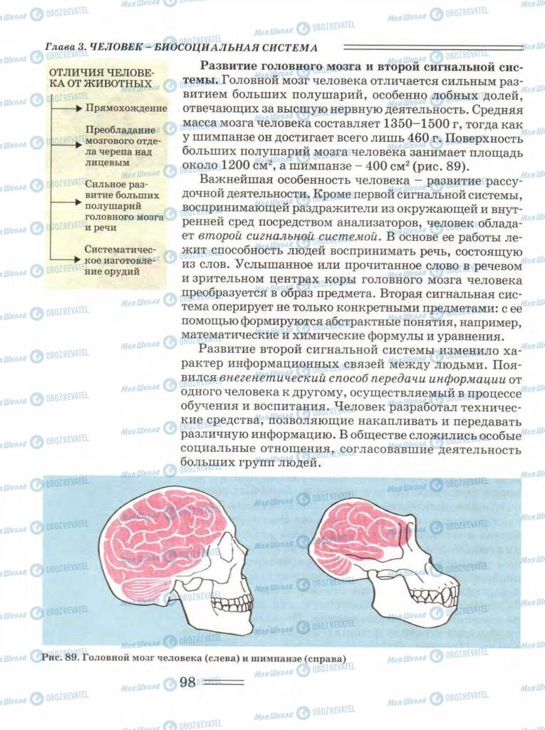 Підручники Біологія 11 клас сторінка 98