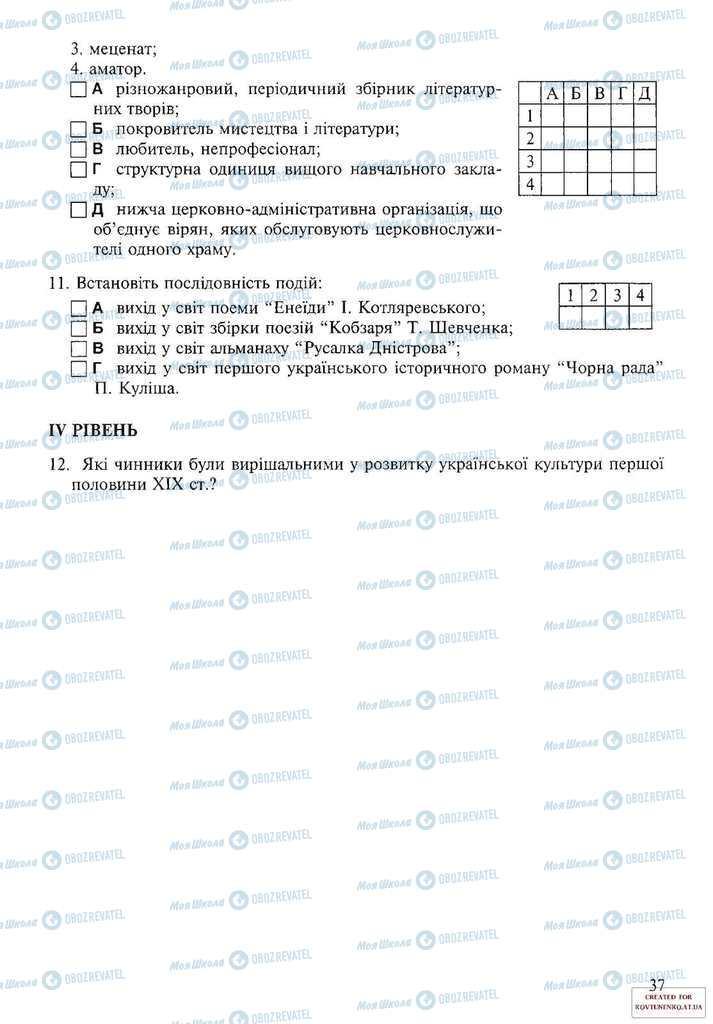 Підручники Історія України 9 клас сторінка 37