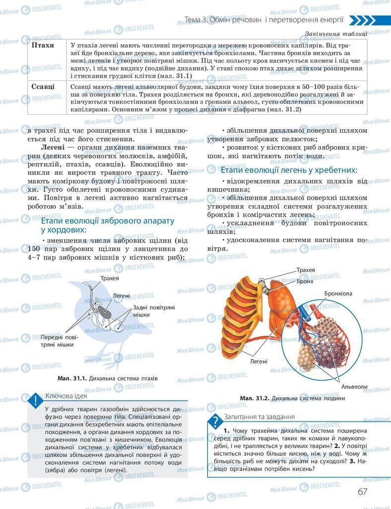 Підручники Біологія 10 клас сторінка 67