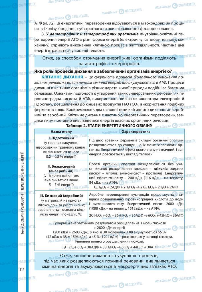 Учебники Биология 10 класс страница 114