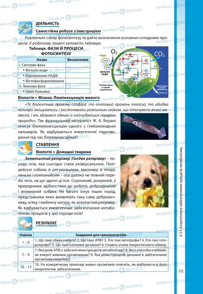Учебники Биология 10 класс страница 115