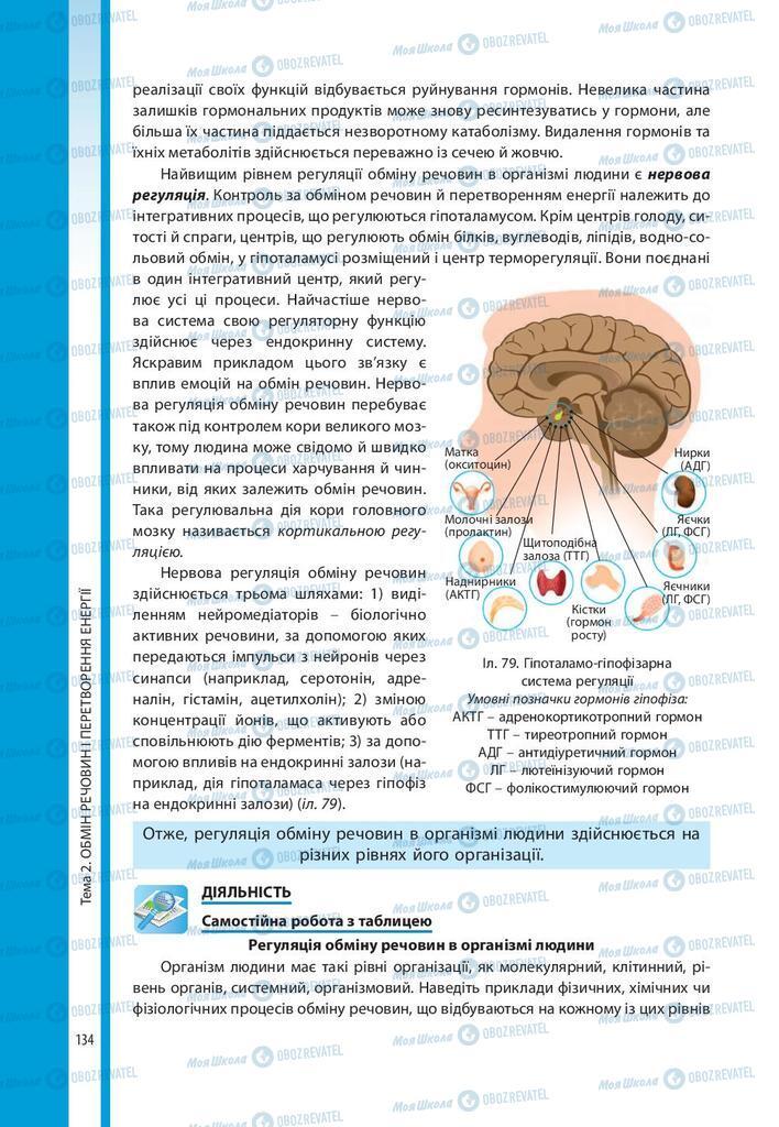 Підручники Біологія 10 клас сторінка 134