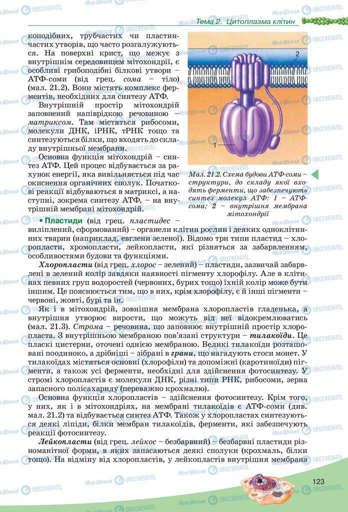Учебники Биология 10 класс страница  123