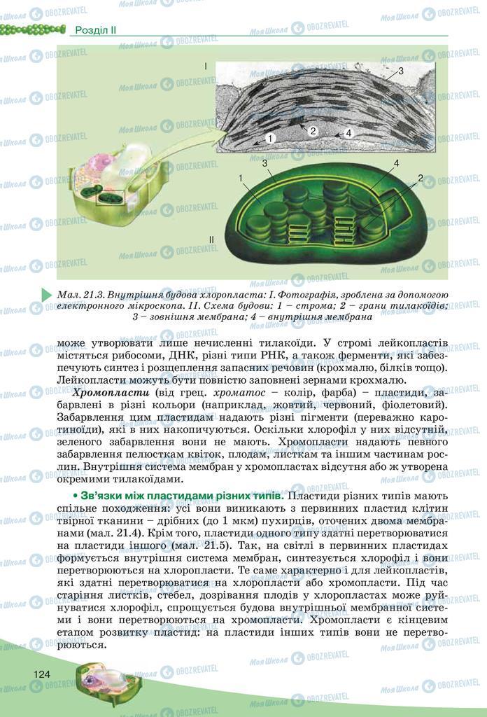 Підручники Біологія 10 клас сторінка  124