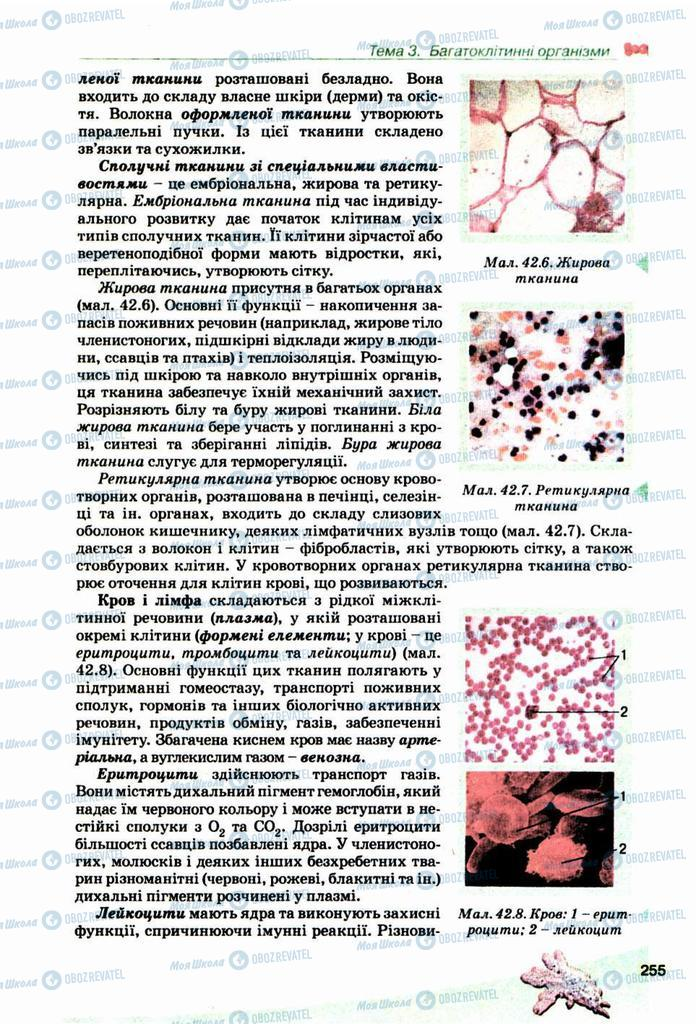 Підручники Біологія 10 клас сторінка 255