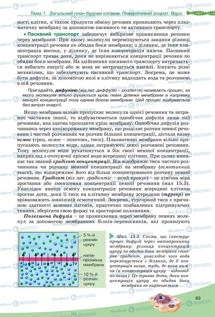 Підручники Біологія 10 клас сторінка  89