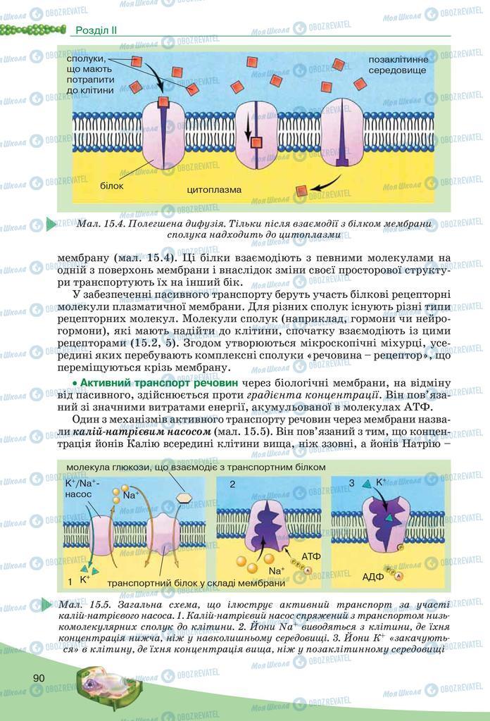 Підручники Біологія 10 клас сторінка  90
