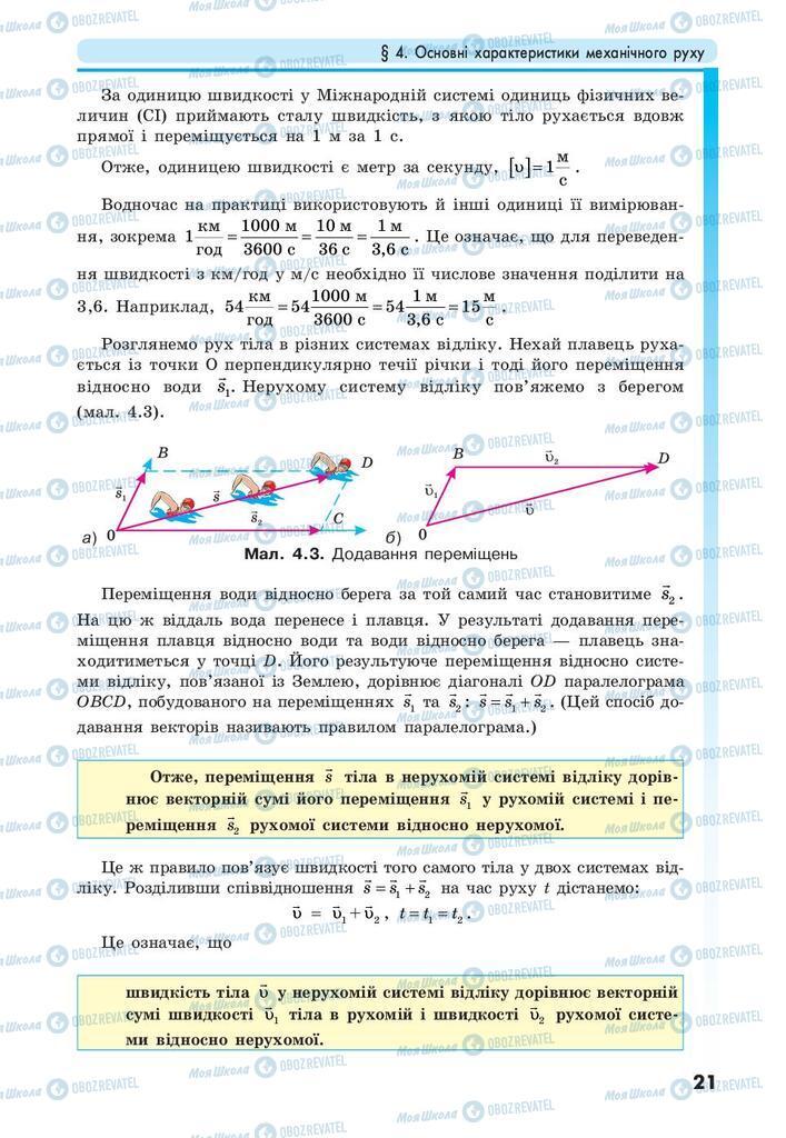 Учебники Физика 10 класс страница 21