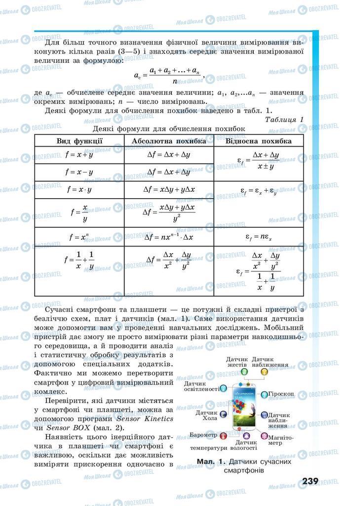 Учебники Физика 10 класс страница  239